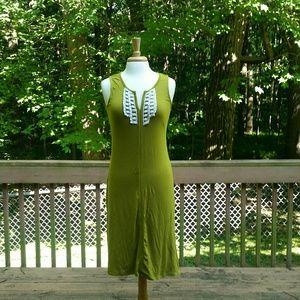 Merona Green Midi Dress